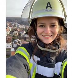 Девушка пожарный